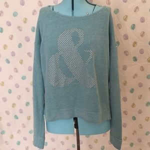 Cute Ampersand Teal Sweatshirt